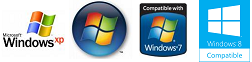 Compatible with Windows XP, Windows Vista, and Windows 7
